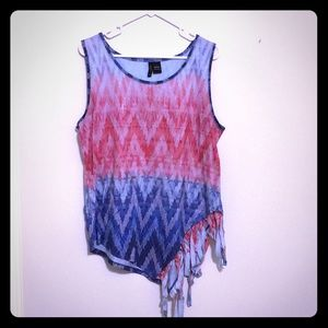 Fun Patterned Sleeveless Top
